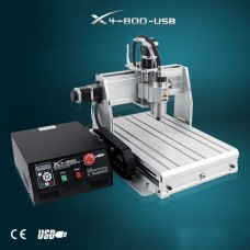 CNC X4-800-USB (4 Axes) ROUTER ENGRAVER DRILLING AND MILLING MACHINE