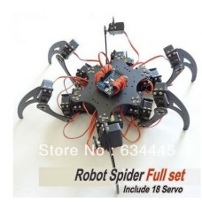 Full Set Robot Hexapod Spider Arduino Board Six 3DOF Legs Frame Kit & 18 Servo